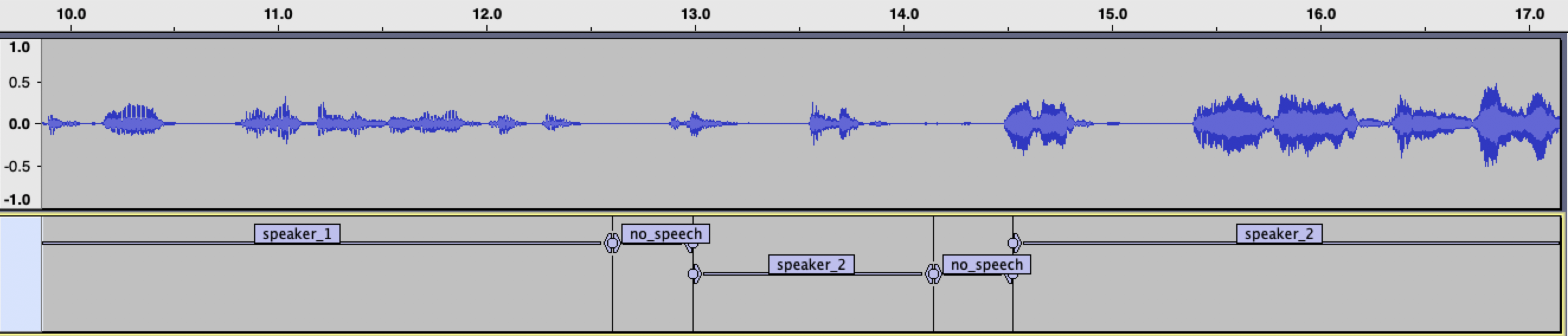 Audacity speakers result